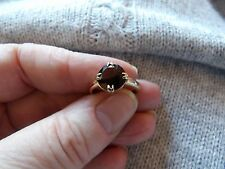 VICTORIAN 22CARAT ROSE GOLD & GARNET SOLITAIRE COVERTED RING SIZE L 4.65G