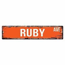 SWNA0090 RUBY AVE Street Chic Sign Home Store Wall Decor Birthday Gift