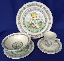 Precious Moments 5 Piece Dinnerware Set Plates Bowl Cup Make A Joyful Noise