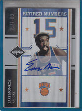 """2010 PANINI LIMITED EARL MONROE RETIRED NUMBERS /99 """"N.Y.KNICKS"""" AUTOGRAPH AUTO"""