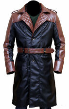Jacob Frye Assassin's Creed Syndicate Mens Brown and Black Leather Trench Coat