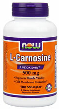 Now Foods  L-CARNOSINE 500mg - 100 vcaps ANITIOXIDANT MUSCLE SUPPORT Amino Acids