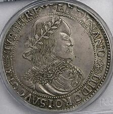 Hungary 1657 Ferdinand III Broad Silver Thaler PCGS AU53