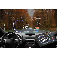 "A8 5.5"" Car HUD Head Up Display OBD2 Water Yemperature Oil Consumption Warning"