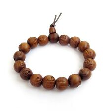 Jujube Wood Buddha Word Tibet Buddhist Prayer Beads Mala Bracelet