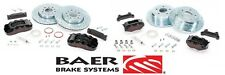 BAER Brake System Front & Rear Kit - Black / Red for 2007-2016 Jeep Wrangler JK
