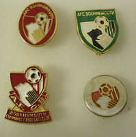 4 x Football Lapel Pin Badges BOURNEMOUTH FOOTBALL CLUB Lot2 THE CHERRIES