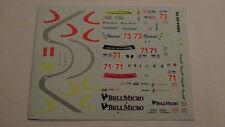 DECAL FERRARI F430 GT 12H SEBRING ALMS #71 #73 TAFEL RACING BBR SCALA 1/43