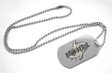 DROWNING POOL CONTOUR LOGO METAL DOG TAG BALL CHAIN NECKLACE NEW OFFICIAL ADULT