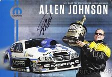 2013 Allen Johnson signed Mopar Dodge Avenger Pro Stock NHRA postcard