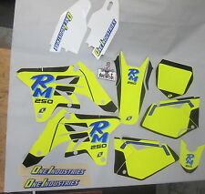 Suzuki RMZ250 2007-2009 One Industries Old School Throwback retro graphics 1G28