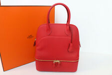100% New BNIB Rare Limited Hermes Bolide Secret Red Vermillion Swift In Gold Hw