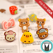 Lot 5pcs Rilakkuma Doraemon Cartoon Cell Phone Jack Cap iPhone Anti Dust Plug