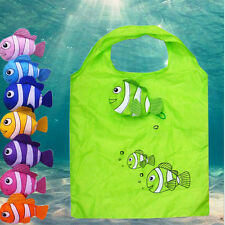 Little Fish Reusable Folding Shopping Bag Travel Grocery Bags Tote JSUK