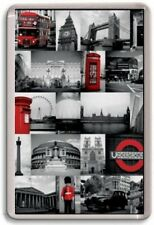 FRIDGE MAGNET - LONDON MONTAGE - Large Jumbo - London UK England