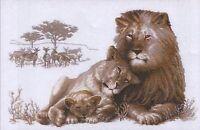 Lion Paradise - Premium Cross Stitch Kit - Riolis - 60cm x 40cm