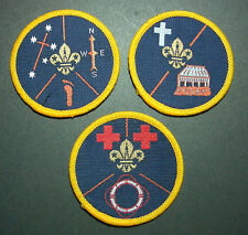 OLD SCOUTS OF WESTERN SAMOA - BOY & GIRL SCOUT Rank Award Patch SET