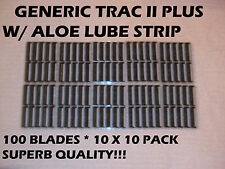 Gillette Trac II  Generic Blades - 100 Blades (10 x 10 Pack)