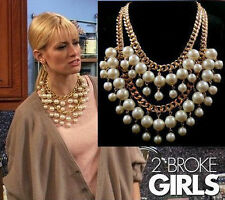 XL 2 broke girls perlas collar statement Caroline cadena oros 178