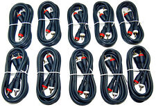 10X Lot 3Ft. Premium Stereo Audio RCA Male to RCA Male OFC Cable 10Pcs.
