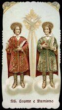santino cromo-holy card-PAL-SS.COSMA E DAMIANO MM. 1