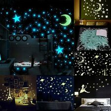 100X Luminous Stars Stickers Glow In The Dark Bedroom Home Wall Room Decor 3cm