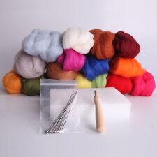 16Pcs Colorful Wool Felt Needles Felt Tool Set + Needle Felting Mat Starter Kits