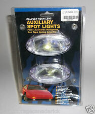 Halogen Neon Lens Auxiliary Spot Lights Bright Yellow Beam w/ Wire Hook Up - NEW