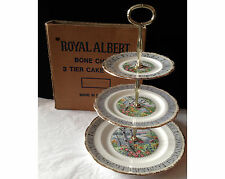Royal Albert Silver Birch 3 Tiered Cake Stand in Original Box