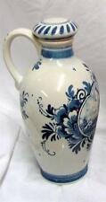 "Delft Pottery 8 1/2"" X 4 1/2"" Windmill Jug Made in Holland Pre-owned"
