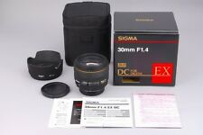 Near MINT SIGMA EX 30mm f/1.4 DC HSM SONY MINOLTA Alpha A Boxed from Japan #1813