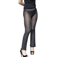 Women's Transparent Sheer Legging Yoga Gym Running Fitness Skinny Trouser  Pants