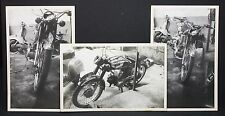 3 photo CARDS MOTORCYCLE-photo carte avec moto yamaha et scooter (i-5555