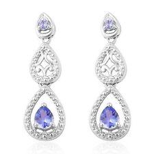 """AA Tanzanite 925 Sterling Silver """"Droplet"""" Earrings."""