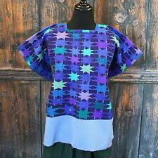 Vintage Huipil Chiapas Hand Woven Mayan Mexican Hippie Cowgirl Peasant Boho