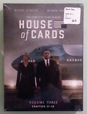 HOUSE OF CARDS volume three  the complete third season DVD NEW