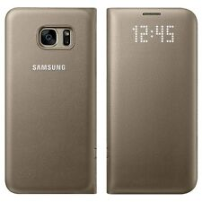 Samsung Galaxy S7 edge LED View Cover Gold funda carcasa protectora
