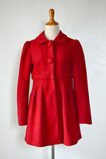 FOREVER 21 Red Vintage Style Mod Coat Wool Winter 1960s Retro Small XS Modcloth