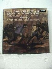 SET 343-4 MASCAGNI Cavalleria Rusticana SULIOTIS DEL MONACO DECCA STEREO 2LP BOX