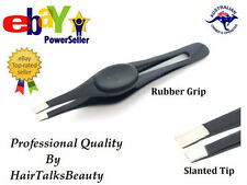 New HT Professional Eyebrow Tweezers Slanted Stainless Steel Plucker Puller Tool