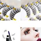 Handmade Makeup Natural Fashion Long Thick False Eyelashes Eye Lashes 10 Pairs