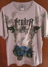 FENDER GUITAR med T shirt Stratocaster tremolo Forever Loud tee Bat Wings
