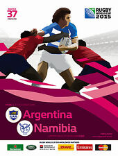 ARGENTINA v NAMIBIA RUGBY WORLD CUP 2015 OFFICIAL PROGRAMME, 11 Oct Leicester
