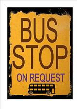 Style vintage bus stop style rétro signe cuisine signe coach bus stop