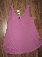 Ladies Old Navy Linen & Polyester Pullover Tunic Top - Pink Rose - Size Large