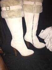 Colin Stuart Suede Knee High Faux Fur Boots Sz 7B