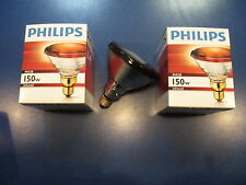 2X Philips PAR38 IR Red 150W 230V E27 Infrared lamp Warming Spotlight