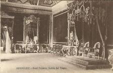 Tarjeta Postal ARANJUEZ. Real Palacio. Salón del Trono