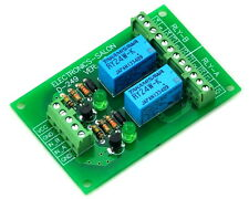 Two DPDT Signal Relay Module Board, DC24V Version, for PIC Arduino 8051 AVR.