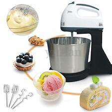 Electric Stand Kitchen Mixer 7 Speed Food Cake Dough Tabletop Beater With Bowl